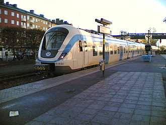 Stockholm commuter rail - An X60 train in Sundbyberg