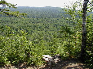 Superior Hiking Trail - Looking east from Lookout Mountain in Cascade River State Park