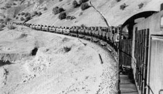 Persian Corridor - An Allied supply train en route bearing supplies for the Red Army