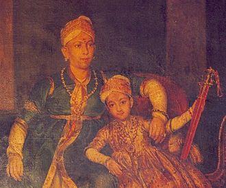 Swathi Thirunal Rama Varma - Svāti Tirunāḷ Rama Varma with his father Raja Raja Varma Koil Thampuran