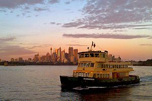 Sydney First Fleet Cataraman Ferry - Scarborou...