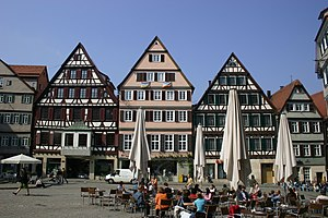 Gable - Front-gabled buildings in Tübingen