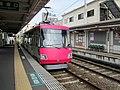 Tōkyū 305 at Wakabayashi Station.jpg