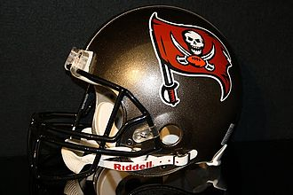 Football helmet - The helmet used by the Tampa Bay Buccaneers from 1997–2013.