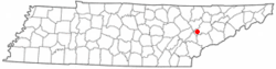 Location of Farragut, Tennessee