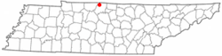 Location of Portland, Tennessee