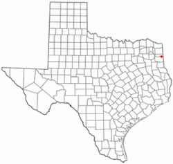 Location of Uncertain, Texas