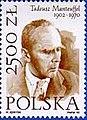 Tadeusz Manteuffel Polish stamp.jpg