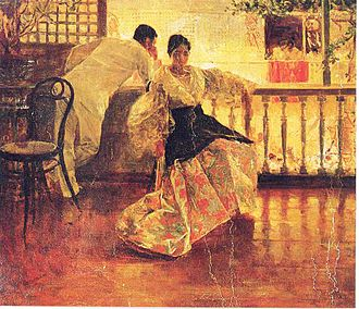Culture of the Philippines - Tampuhan by Juan Luna.