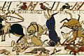 Tapestry by unknown weaver - The Bayeux Tapestry (detail) - WGA24165.jpg
