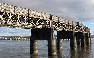 William Arrol - A view of the Tay Bridge from Dundee