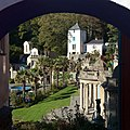 Telford's Tower, Portmerion - view from SE through arch.jpg