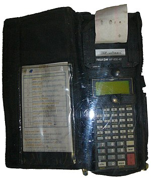Mobile computing - Telxon PTC-710 is a 16-bit mobile computer PTC-710 with MP 830-42 microprinter 42-column version.