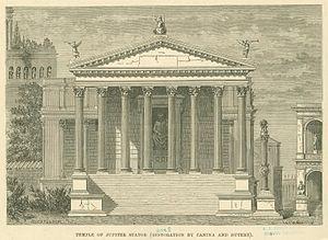 Temple of Jupiter Stator (2nd century BC) - Temple of Jupiter Stator (after 19th century restoration)