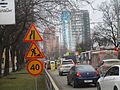 Temporary road signs at Schosse Neftyanikov str., Krasnodar.jpg