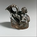 Terracotta askos (flask with a spout and handle) MET DP1226.jpg