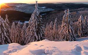 Geography of Germany - Thuringian Forests in winter