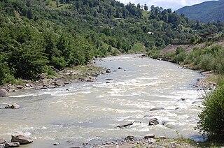 Bâsca river in Romania