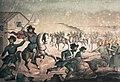 The Battle of Sant'Antonio, Uruguay in which Garibaldi participated, in 1846.jpg