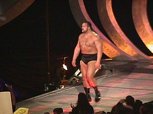 Big Show - Big Show entering the arena on the SmackDown! entrance way in 1999