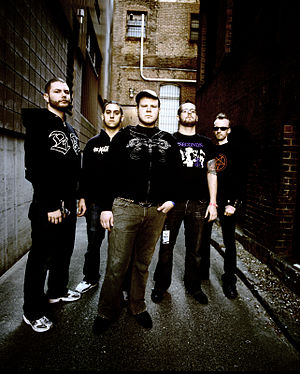 The Black Dahlia Murder (band) - The Black Dahlia Murder in 2006. From left to right: Eschbach, former bassist Ryan Williams, former guitarist John Kempainen, Strnad and former drummer Pierre Langlois.