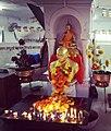 The Buddha and Babasaheb Ambedkar inside Chaitya Bhoomi Stupa, Mumbai.jpg