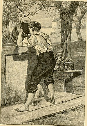 "Samuel Woodworth - Illustration for ""The Old Oaken Bucket"", 1882"