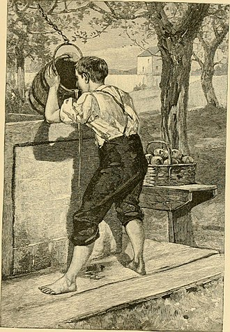 "Samuel Woodworth - Illustration for ""The Old Oaken Bucket"", 1882"