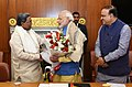 The Chief Minister of Karnataka, Shri Siddaramaiah calls on the Prime Minister, Shri Narendra Modi, in New Delhi.jpg