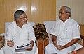 The Chief Minister of Puducherry, Shri V. Vaithilingam meeting the Union Minister for Rural Development and Panchayati Raj, Shri C.P. Joshi, in New Delhi on September 01, 2009.jpg