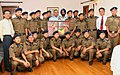 The Chief of Air Staff, Air Chief Marshal P.V. Naik with the Cadets and Teachers from Sainik School, Imphal during a goodwill-cum-motivational visit, in New Delhi on June 26, 2009.jpg