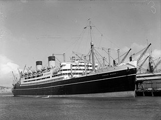 QSMV Dominion Monarch - Wellington 1940s
