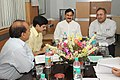 The Energy Minister of Gujarat, Shri Saurabh Patel meeting the Minister of State for Power, Shri Bharatsinh Solanki, in New Delhi on July 08, 2010, to discuss setting up of 1320 MW thermal power plant in Gujarat.jpg