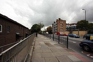 Street in the London Borough of Tower Hamlets