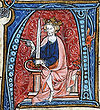The King Conrad I enthroned