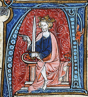 Conrad I of Germany - King Conrad, from the Spieghel Historiael of Jacob van Maerlant, c. 1330