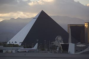 Luxor Las Vegas - Image: The Luxor From Airport