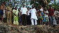 The Minister of State for Information & Broadcasting, Shri Mohan Jatua with the cyclone Aila affected people, at village Uttar Mandirtala of South 24 Parganas district, West Bengal on May 30, 2009.jpg