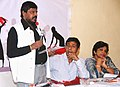 """The Minister of State for Social Justice & Empowerment, Shri Ramdas Athawale addressing at the seminar on """"Recognizing, Reducing and Redistributing Women's Unpaid Work"""", in Mumbai on September 04, 2017.jpg"""