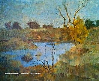 Albert Dolmans - The Pond (Oil) Albert Dolmans 1970
