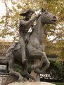 The Pony Express statue is made by sculptor Thomas Holland in Old Sacramento, California LCCN2013633897.tif