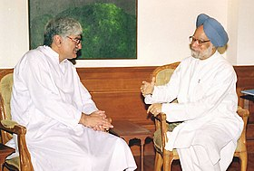 The President, Awami National Party of Pakistan Mr. Asfandyar Wali Khan calls on the Prime Minister Dr. Manmohan Singh in New Delhi on July 28, 2004.jpg