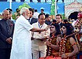 The President, Shri Ram Nath Kovind and the Prime Minister, Shri Narendra Modi at the Dussehra celebrations at Madhav Das Park, Red Fort, on the auspicious occasion of Vijay Dashmi, in Delhi on September 30, 2017 (1).jpg