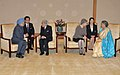 The Prime Minister, Dr. Manmohan Singh and his wife Smt. Gursharan Kaur with the Emperor of Japan, His Majesty Akihito and the Empress of Japan, Her Majesty Michiko, at Imperial Palace, in Tokyo, Japan on October 25, 2010.jpg