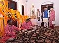 The Prime Minister, Shri Narendra Modi and the Prime Minister of Japan, Mr. Shinzo Abe witness the playing of the 'Jal Tarang', in Ahmedabad, Gujarat on September 13, 2017.jpg