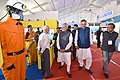The Prime Minister, Shri Narendra Modi visiting the Make in India Theme Exhibition, at Naya Raipur, Chhattisgarh on November 01, 2016. The Chief Minister of Chhattisgarh, Dr. Raman Singh is also seen (1).jpg
