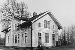 The Railway Station of Orrefors built 1875, protected under Swedish law as valuable national heritage.jpg