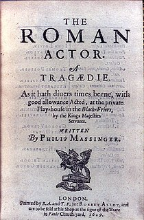 <i>The Roman Actor</i> play written by Philip Massinger