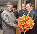 The Union Minister for Electronics & Information Technology and Law & Justice, Shri Ravi Shankar Prasad meeting the Prime Minister of Kingdom of Cambodia, Mr. Samdech Akka Moha Sena Padei Techo Hun Sen, in New Delhi.jpg