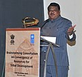 The Union Minister for Tribal Affairs, Shri Jual Oram addressing at the Brain Storming Consultation on Exploring of feasibility for convergence of resources under Tribal Sub Plan (TSP), in New Delhi on December 13, 2014.jpg